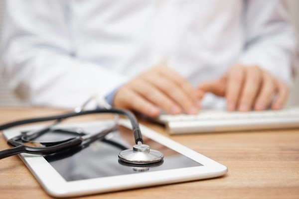 Doctor performing online consultation