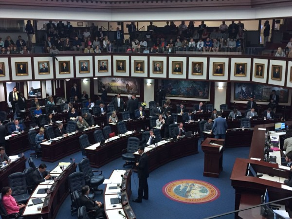 Speaker-Designate Jose Oliva (R-Miami) presents the gun safety bill (CS/SB 7026) on the House floor