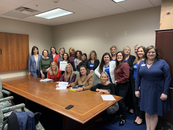 Representative Holly Raschein with Women United volunteers from across the state.