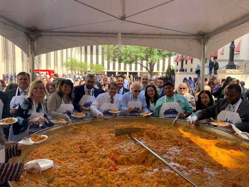 Dade Days Paella Fest with Miami-Dade County and Municipal elected officials.