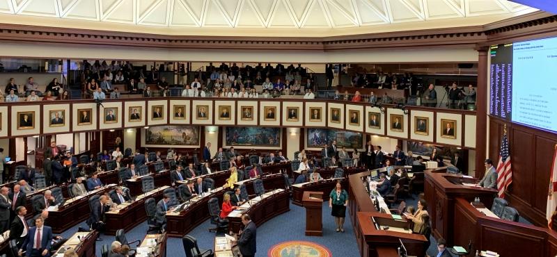 Florida legislators on floor