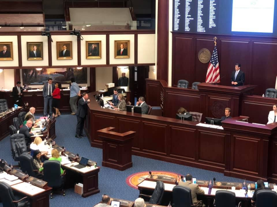 Speaker of the House of Representatives Jose Oliva presiding.