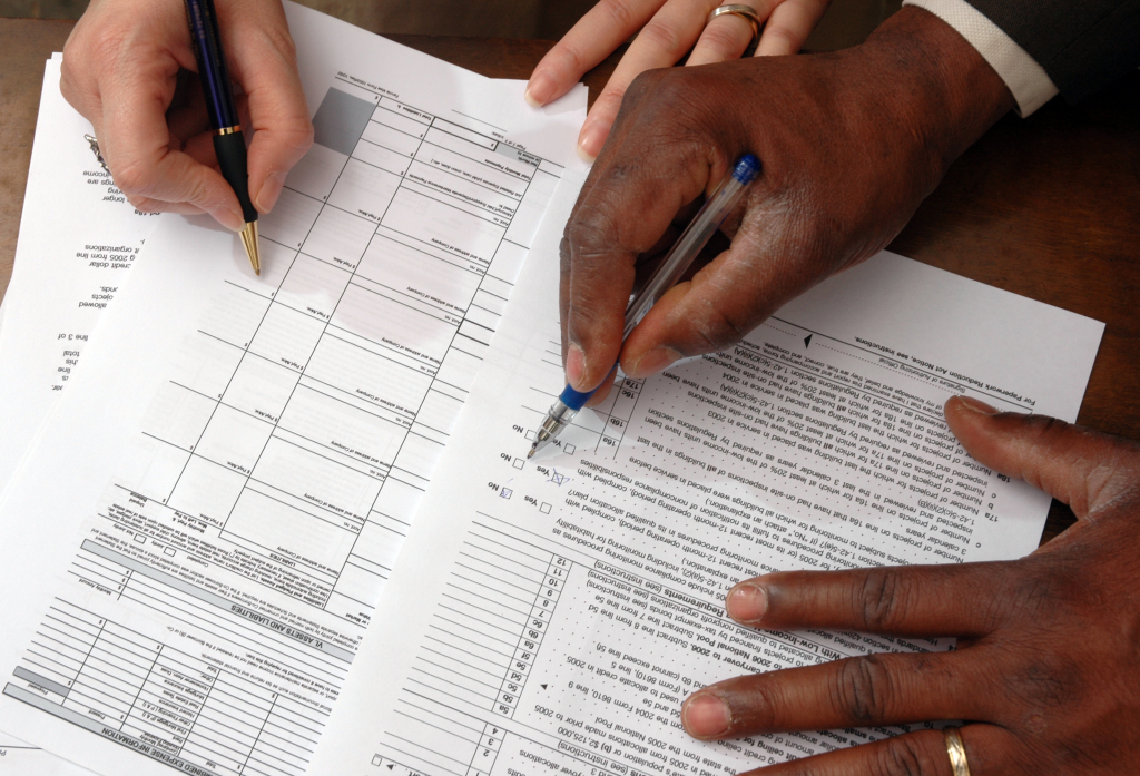 Taxes and paperwork