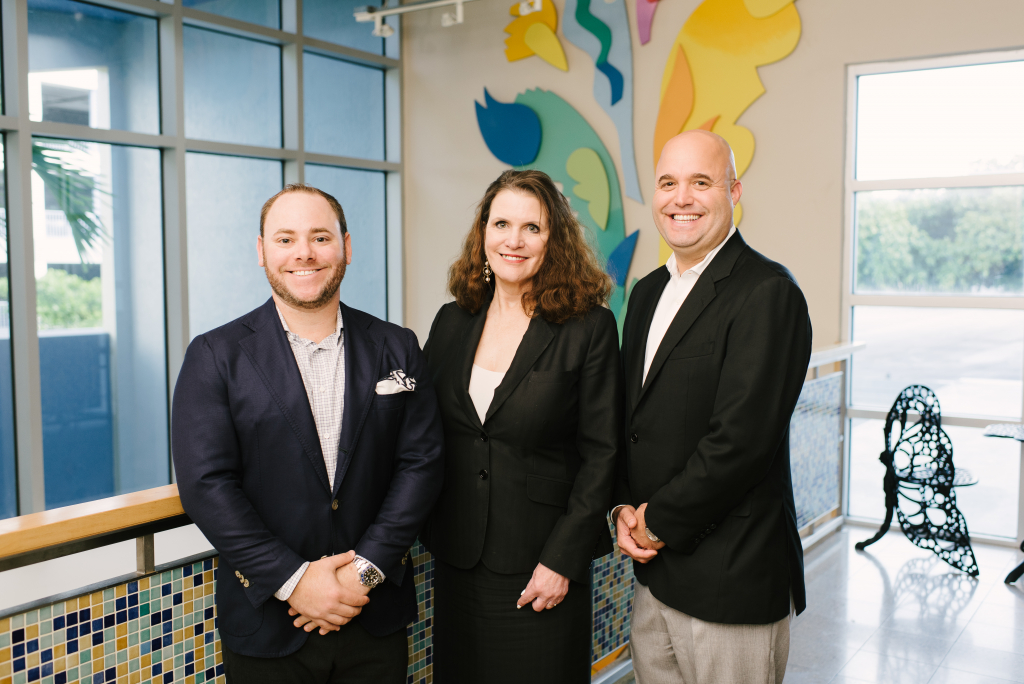 Tocqueville Society Co-Chairs Brian Goldmeier, Susan Potter Norton and Justin Firestone (l-r)